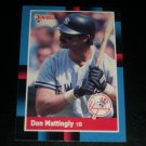 Don Mattingly 1988 Donruss baseball card