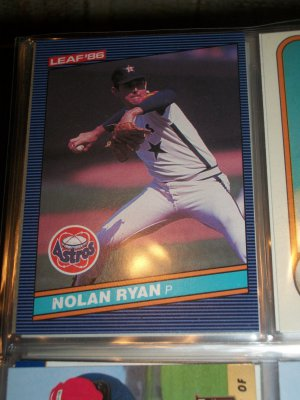 Nolan Ryan 1986 Leaf baseball card
