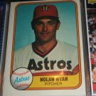Nolan Ryan 1981 Fleer baseball card