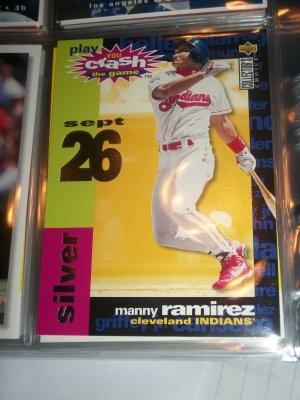 "Manny Ramirez 95 UD collector's choice- Silver ""You crash the game"" baseball card"