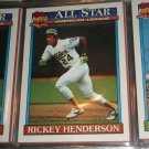 Rickey Henderson 1991 Topps American Leage All-Star