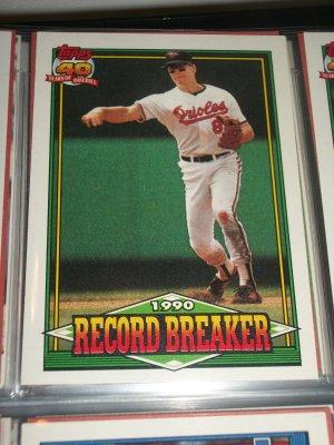 """Cal Ripken jr 1991 Topps """"Record Breaker"""" baseball card"""