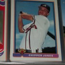 Chipper Jones 91 Bowman baseball card