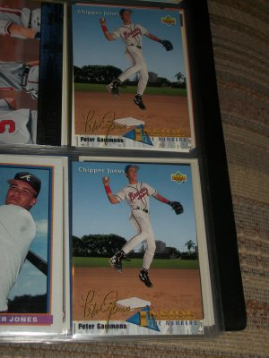 "Chipper Jones 93 UD baseball card- ""Inside the Numbers"""