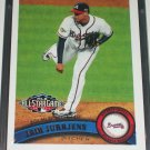 Jair Jurrjens 2011 Topps baseball card- All-Star game