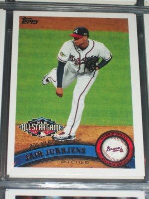 Jair Jurrjens 2011 Topps baseball card- All-Star game