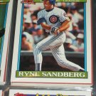 Ryne Sandberg 1991 Topps baseball Card- National League All-Star Team