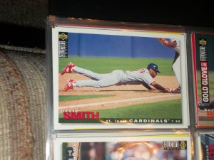 Ozzie Smith 95 UD Collectors choice baseball card