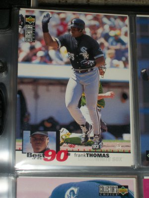 Frank Thomas 95 UD Collectors Choice Baseball Card- Best of the 90's