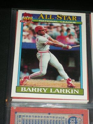 Barry Larkin 1991 Topps Baseball Card- National League All-Star