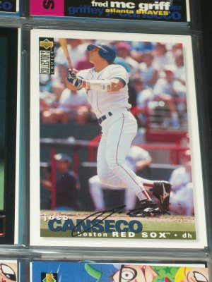 "Jose Canseco 95 UD Collectors Choice Rare ""Silver Signature"" baseball card"