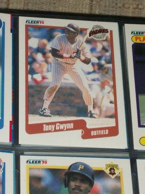 Tony Gwynn 90 Fleer baseball card