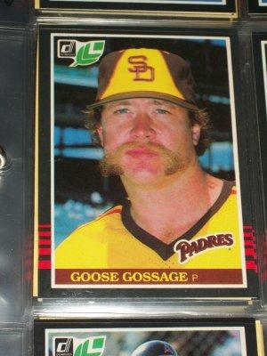 Goose Gossage 85 Leaf baseball card