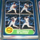 "86 Fleer ""Super Star Special"" Mattingly In Action baseball card"