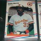 Eddie Murray 88 fleer baseball card