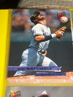 Don Mattingly 93 fleer ultra baseball card