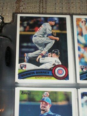 Darwin Barney 2011 Topps Baseball Card- Rookie Card