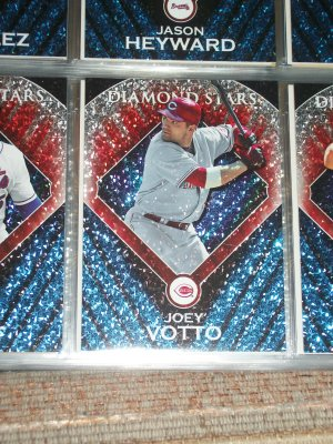 Joey Votto 2011 Topps baseball card RARE INSERT- Diamond Stars