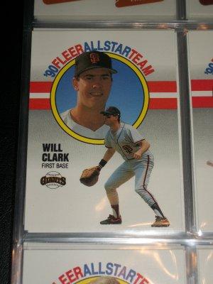 Will Clark 1990 Fleer All-Star Team Baseball card