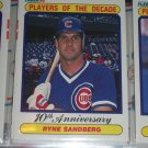 "Ryne Sandberg 1990 Fleer Baseball card- ""Players of the Decade"""