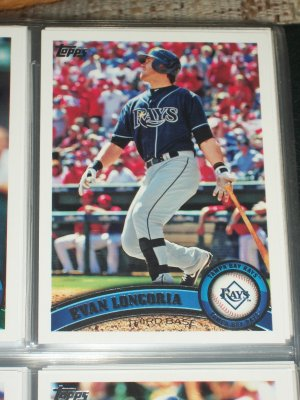 Evan Longoria 2011 Topps baseball card