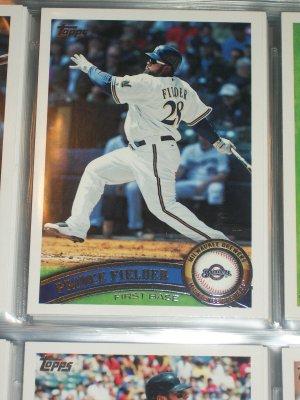 Prince Fielder 2011 Topps Baseball Card