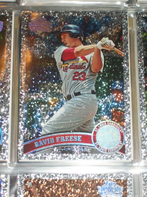 "David Freese 2011 Topps ""Diamond Anniversary"" baseball card"