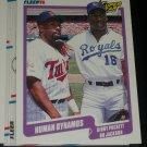 """1990 Fleer Kirby Puckett/Bo Jackson """"Human Dynamos"""" Baseball Card"""