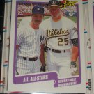 "1990 Fleer Baseball- Super Star Specials ""A.L. All-Stars"" Mattingly+McGwire card"