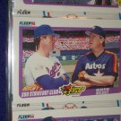 "Fleer 1990 Super Star Special- ""300 Strikeout Club"" Nolan Ryan+Mike Scott baseball card"