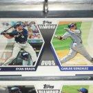"2011 Topps ""Diamond Duos"" Braun+Gonzalez baseball card"