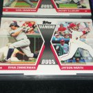 "2011 Topps ""Diamond Duos"" Zimmerman+Werth baseball card"