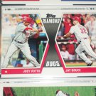 "2011 Topps ""Diamond Duos"" Joey Votto/Jay Bruce baseball card"
