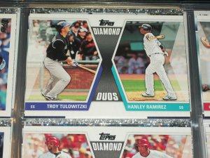 """2011 Topps """"Diamond Duos"""" Tulowitzki+Ramirez baseball card"""