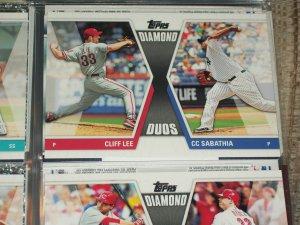 "2011 Topps ""Diamond Duos"" Cliff Lee/C.C. Sabathia baseball card"