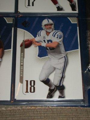 Peyton Manning 2008 UD SP football card