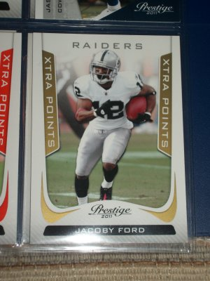 """Jacoby Ford 2011 Panini Prestige RARE LE INSERT """"Xtra Points"""" Football card"""