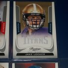 "Jake Locker 2011 Panini Prestige football card ""Rookie"" year"