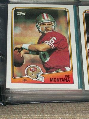 Joe Montana 1988 Topps football Card