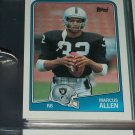 Marcus Allen 1988 Topps Football Card