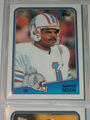 Warren Moon 1988 Topps Football Card
