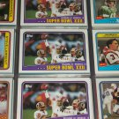 "1988 Superbowl XXII ""Redskins vs. Broncos"" football card"