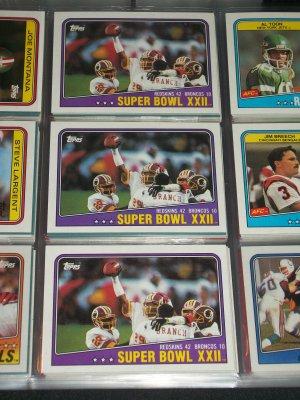 "1988 Superbowl XXII ""Redskins vs. Broncos"" football card"