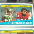 "1988 Topps NFL ""Receiving Leaders"" FOOTBALL CARDS"