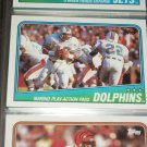 "1988 Topps Miami Dolphins Team football card- Featuring ""Dan Marino play action pass'"