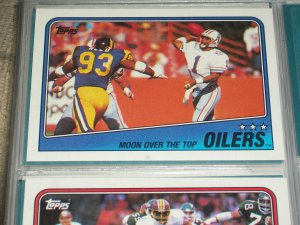 "1988 Topps Oilers Team football card ""Moon over the Top"""