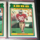 "Jerry Rice 1988 Topps RARE ""1,000 YARD CLUB"" Football Card"