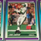 Chris Carter 1990 Score Football Card