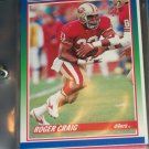 Roger Craig 1990 Score football card