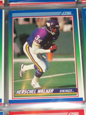 Herschel Walk 1990 Score Football Card